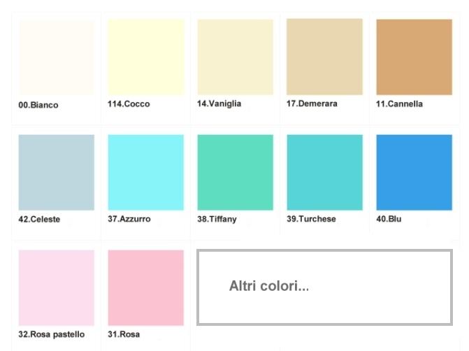 Cartella colori confetti
